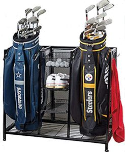 golf bag, bag garage, garage organizer, bag organizer, 2020 best