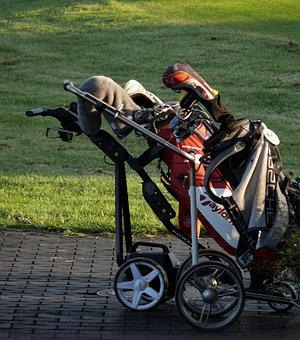 hilly courses, golf cart best, for hills, push cart
